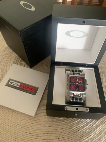 Relógio Oakley Time Tank Machine Red