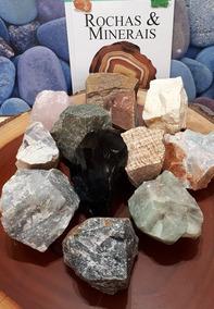 Lote 3200g 12 Rochas Cristais Grandes!! Aragonita Obsidiana