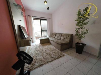 Apartamento De 1 Quarto Com Sacada E Piscina À Venda Em Praia Grande, Aceita Banco!!! - Ap2162