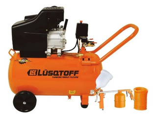 Compresor Aire 50 Litros 2.5hp Lusqtoff Lc-2550bk + Kit 5 Pz