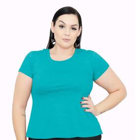 Roupa Feminina Bata Gola Redonda Plus Size 56+