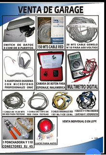 Cables, Audífonos, Cámara, Varios