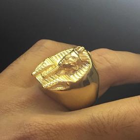 Anel Banhado Em Ouro/ Egípcio/ Faraó