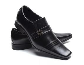 a914c5e620 Sapato Social Masculino Vitelli Preto 100% Couro Sandalia - Calçados ...
