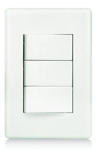 Conjunto 03 Interruptores Simples Placa+suporte+módulo