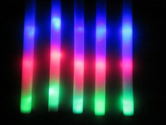 10 Barras Goma Espuma Luminosa Led Rompecocos Multicolor