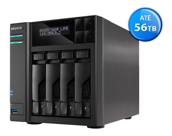 Servidor Nas As6204t Intel Quad Core 4gb -até 56tb - Sem Hd