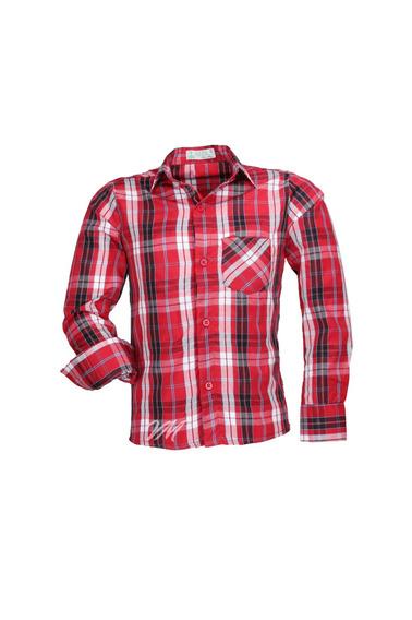 Camisa Infantil Alfa Tecido Misto Xadrez Junino - Cor 01 -