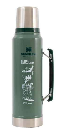 Termo Stanley Verde Con Manija 1l Por Legion Extranjera