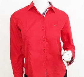fbde50f2b5 Camisa Social Feminina Slim Fit Do 36 Ao 48