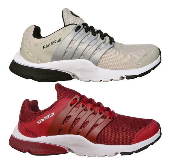 Kit 2 Pares Tenis Masculino New Ayrun Casual Original 190