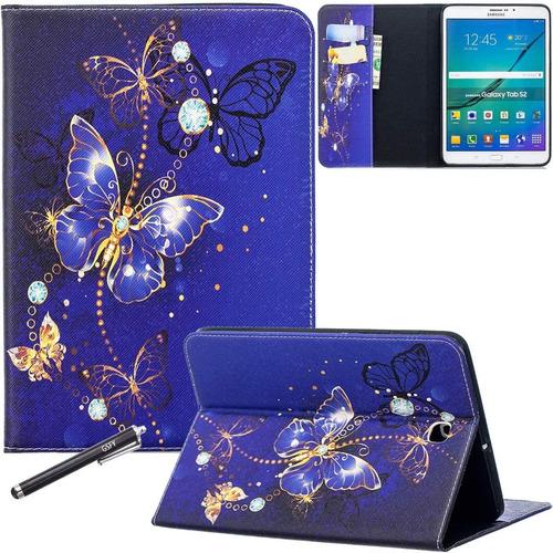 Galaxy Tab S2 9.7 Case, Newshine Pu Leather Folio Wallet ...