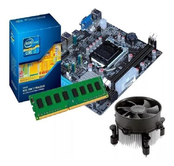 Kit Processador I7 3770 3.9 Ghz + Placa Mãe H61 + 8gb Ddr3