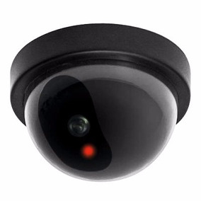 Câmera De Segurança Falsa Mini Dome Com Led Piscante