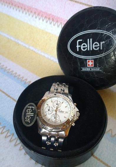 Relógio Feller Swiss Chronograph - Edição Limitada