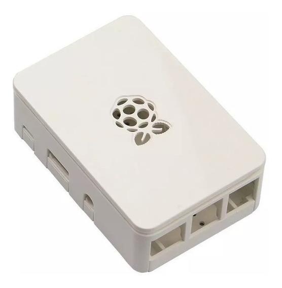 Case Branco Piano Premium Raspberry Pi Pi3 C/ Suporte Câmera