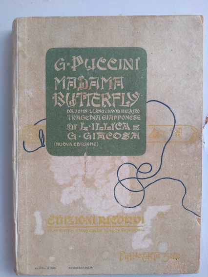 Livro - Madama Butterfly - G Puccini - Partituras