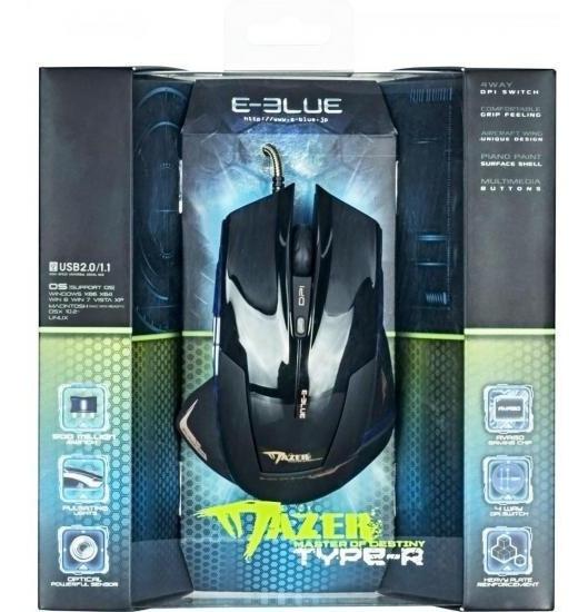 Mouse Gamer Usb 2400dpi Mazer Type-r E-blue