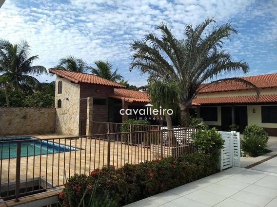 Casa Maravilhosa 6 Quartos (3 Suítes), Piscina, Sauna Churrasqueira, (itaipuaçu), Maricá. - Ca3183