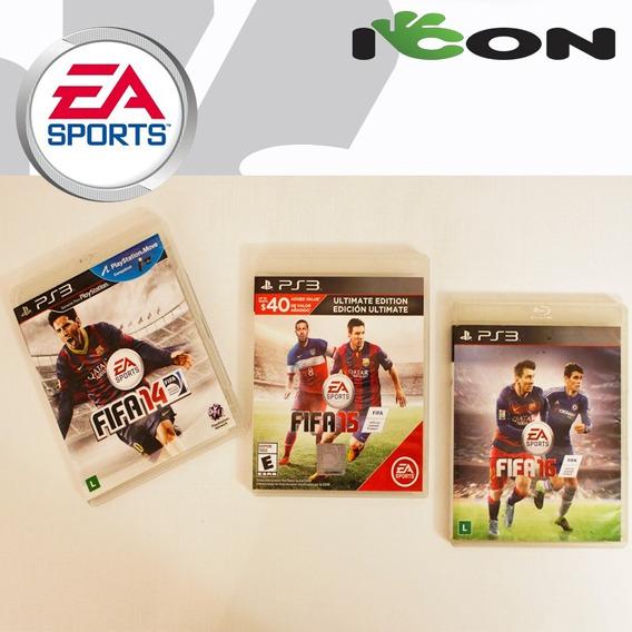 Jogo Playstation 3 Ps3 Play3 Fifa 14 Fifa 15 Fifa 16 Kit