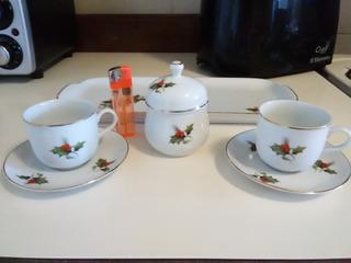 Juego Café Navidad (2puestos) En Porcelana Bavaria(40vdes)