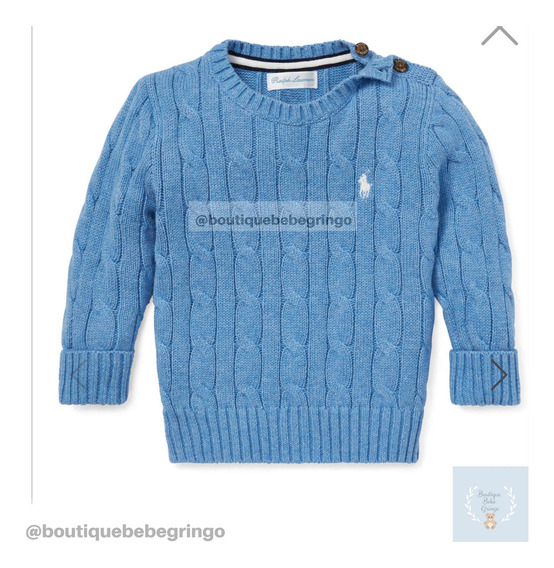 Sweater Polo Ralph Lauren - Menino - Original.