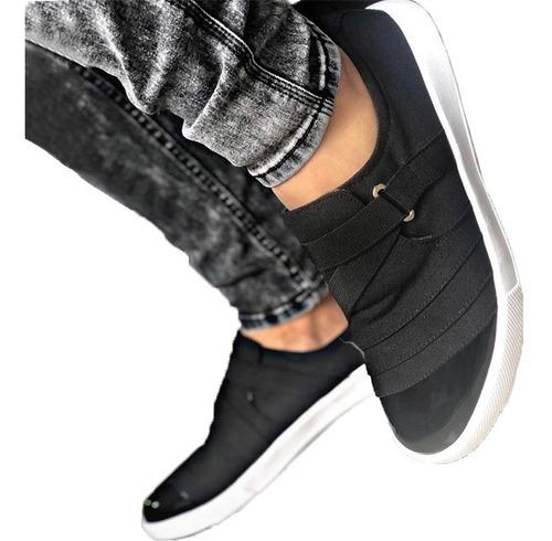 Tenis Zapatos Zapatillas Calzado Charol Negro Maxi®