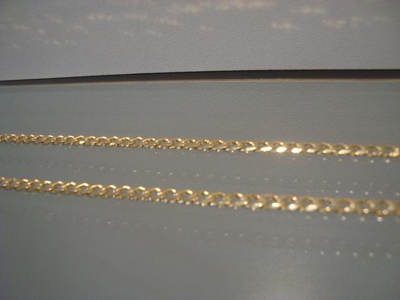 Corrente Folheada Em Ouro 18k, Com 60cm Centímetros