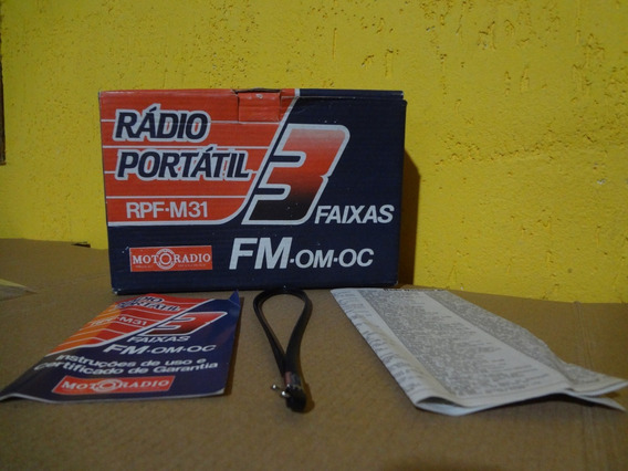 Só A Caixa - Manual - Alça - Motoradio Rpf - 31