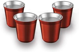 Copo De Café Expresso Térmico 80ml Vermelho Escuro