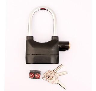 Candado Alta Seguridad Alarma Sirena 110db Arco Mediano Moto