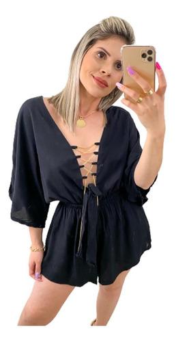 Macaquinho Gypsy Ciganinha Glamour Verao 2017 Blogueira Moda
