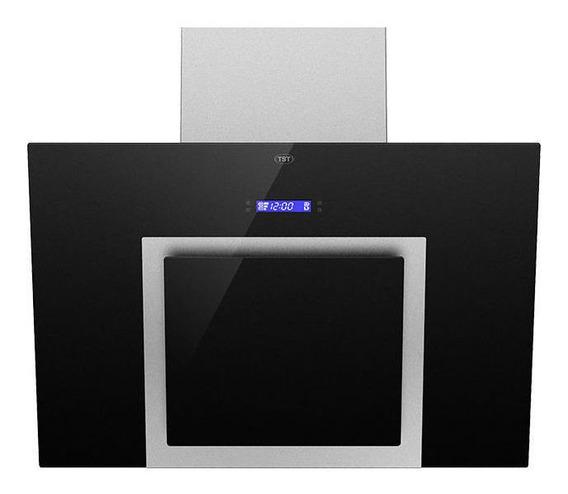 Extractor purificador cocina TST Espejo ac. inox. y vidrio de pared 600mm x 380mm x 215mm acero inoxidable/negro 220V