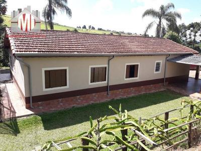 Chácara Com Escritura, 04 Dormitórios À Venda, 4000 M² Por R$ 350.000 - Zona Rural - Pinhalzinho/sp - Ch0449