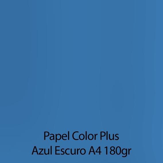 Papel Color Plus Liso Fosco A4 - 180g 50 Folhas Escolha Cor