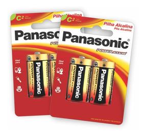 4 Pilhas Alcalinas Panasonic C (média)