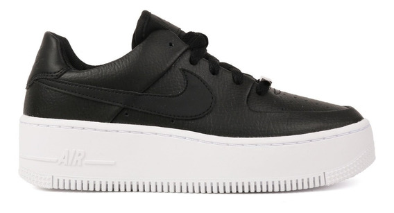 Nike Air Force 1 Sage Low Black Mujer Originales Cod 0203