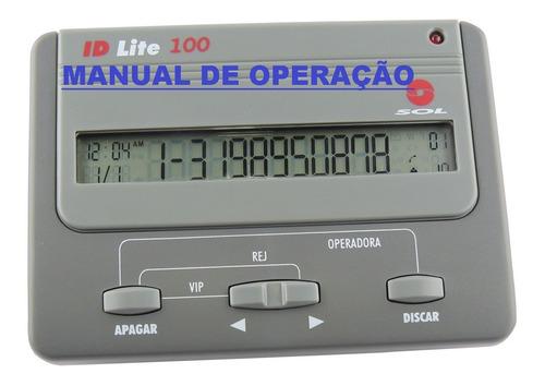 Imagem 1 de 1 de Manual De Operação Bina Id Lite 100