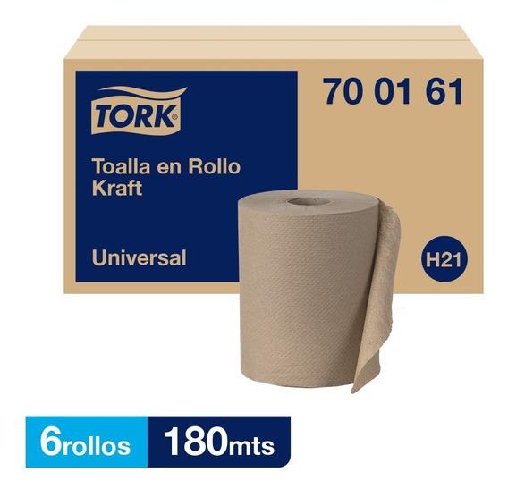 Tork Toalla En Rollo Kraft Universal Hs 6 Rollos De 180 Mts