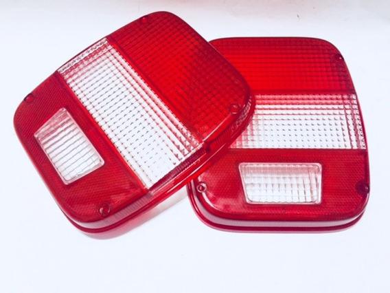 Lente Lanterna Traseira Troller Modelo 2009 Bicolor - 2 Pç