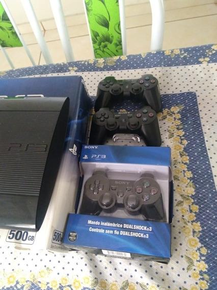 Playstation 3 Slim Mais De 100 Jogos 3 Controles Semi Novos