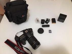 Camera Canon 60d + Lente 18-135mm + Acessorios