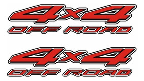 Par De Adesivos Emblema Picape Nissan Frontier 4x4 Off Road