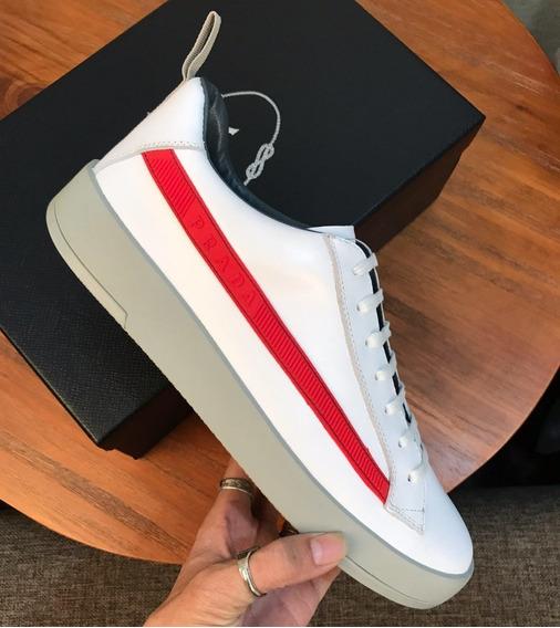 Zapatillas Philipp Plein- Puro Blanco - Linea Roja
