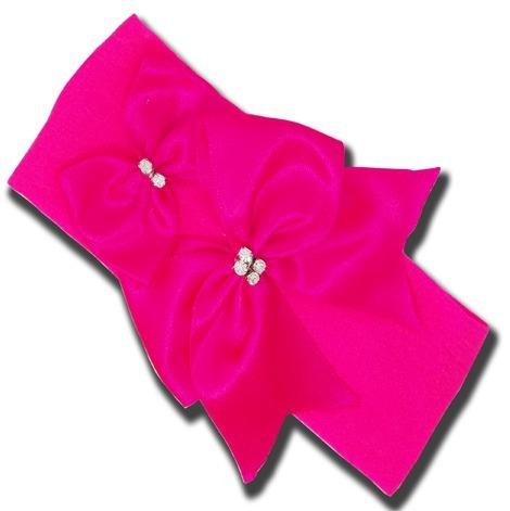 Faixa De Bebê Meia De Seda Pink Florescente