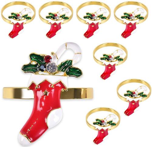 Imagen 1 de 7 de Anillos Para Servilletasanillos De Navidadpara Servillet