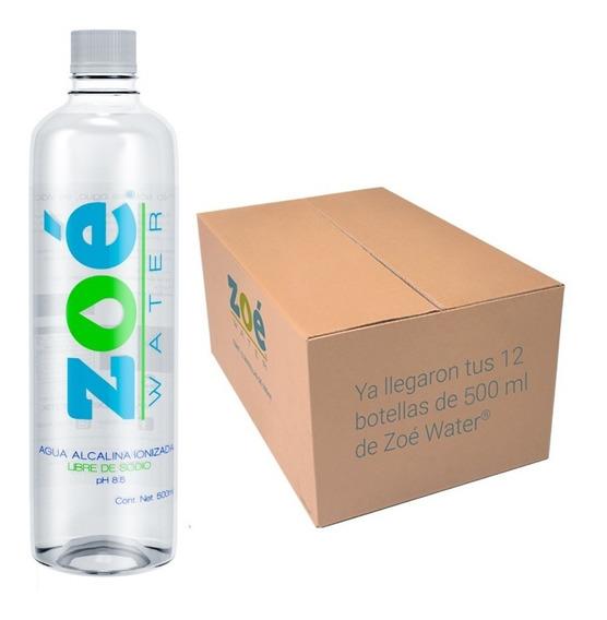 Agua Alcalina Zoé Water, 900ml - Caja 12 Botellas