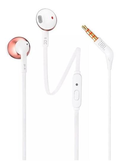Fone De Ouvido In Ear Jbl T205 Cores Microfone E Controle