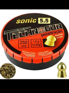 Sonic Technogun 5.5 Mm - 250 Und.