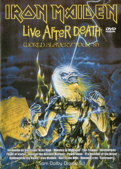 Dvd Iron Maiden - Live After Death World Slavery Tour